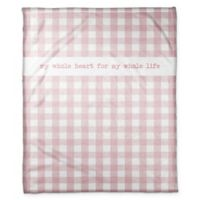 Designs Direct Buffalo Check Throw Blanket in White