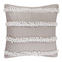 Levtex Home Pom Poms Square Throw Pillow in Taupe