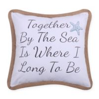Levtex Home Together By the Sea Rope Square Throw Pillow in Teal