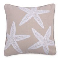 Levtex Home Starfish Square Throw Pillow in Taupe