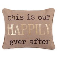 Levtex Home Lodge Happily Ever After Oblong Throw Pillow in Taupe