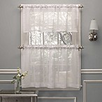 Crushed Voile 24-Inch Window Curtain Tier Pair in White
