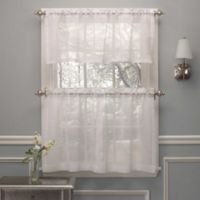Crushed Voile Window Curtain Valance in White