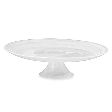 Mikasa® Swirl White 11-Inch Footed Cake Plate