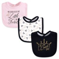 Yoga Sprout 3-Pack Drooler Bibs in Black