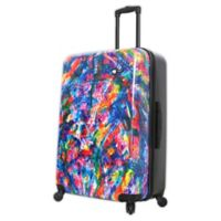 Mia Toro ITALY Duaiv Splash 28-Inch Hardside Spinner Checked Luggage