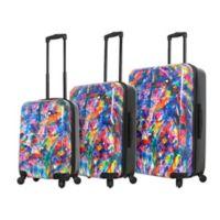 Mia Toro ITALY Duaiv Splash 3-Piece Hardside Spinner Luggage Set