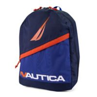 Nautica® J Class Colorblock Diagonal Zip Full Size Backpack in Navy/Blue