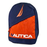 Nautica® J Class Colorblock Diagonal Zip Full Size Backpack in Navy/Orange