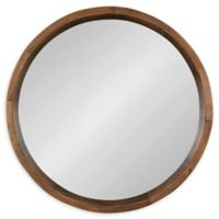 Kate and Laurel Hutton 22-Inch Round Wall Mirror in Natural