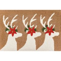 Liora Manne Deer & Friends Indoor/Outdoor 1'8 X 2'6 Accent Rug in Natural