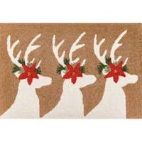 Liora Manne Deer & Friends Indoor/Outdoor 2' X 3' Accent Rug in Natural