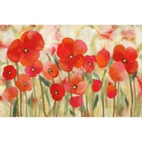 "Liora Manne Poppies 1'11"" X 2'11"" Powerloomed Accent Rug in Red"