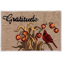 Liora Manne Gratitude Indoor/Outdoor 1'8 x 2'6 Accent Rug in Natural