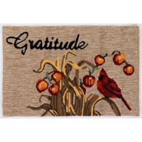 Liora Manne Gratitude Indoor/Outdoor 2' x 3' Accent Rug in Natural