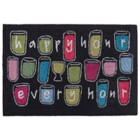 "Liora Manne Happy Hour Every 1'8"" X 2'6"" Tufted Accent Rug in Black"