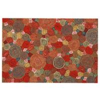"Liora Manne Giant Swirls 1'11"" X 2'11"" Powerloomed Accent Rug in Red"