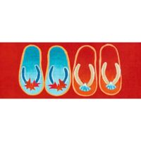 "Liora Manne Flip Flop 4'11"" Runner Powerloomed Rug in Red"