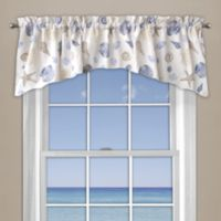 Seashore Coral Window Curtain Valance in Blue