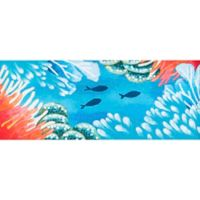 "Liora Manne Reef & Fish 4'11"" Runner Powerloomed Rug in Orange"