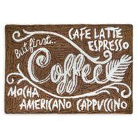 "Liorra Manne Coffeehouse 20"" x 30 Indoor/Outdoor Accent Rug in Brown"