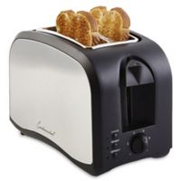 Continental Electric 2-Slice Metallic Toaster in Black