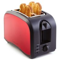 Continental Electric 2-Slice Metallic Toaster in Red