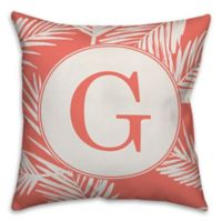 Designs Direct Palms Square Indoor/Outdoor Throw Pillow in Orange