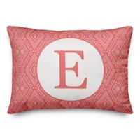 Designs Direct Tribal Monogram Oblong Indoor/Outdoor Throw Pillow in Orange