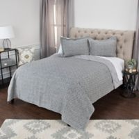 Rizzy Home Giotto King Quilt in Grey