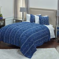 Rizzy Home Sawyer Queen Quilt in Indigo