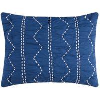 Rizzy Home Sawyer King Pillow Sham in Indigo