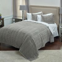 Rizzy Home Mr. Grey King Quilt in Taupe