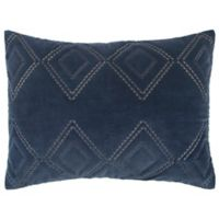 Rizzy Home Auden King Pillow Sham in Indigo
