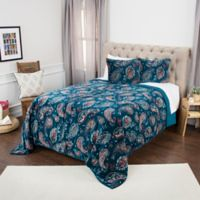 Rizzy Home Evanstar King Quilt in Blue