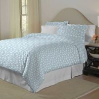Pointehaven Clouds Twin/Twin XL Duvet Cover Set in Teal/White