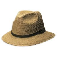 Scala Large/X-Large Crocheted Raffia Safari Hat in Tea