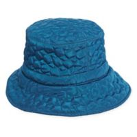Scala Women's Quilted Big Brim Rain Hat in Teal