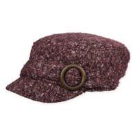 Scala Women's Knit Cadet Hat in Wine