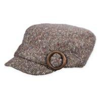 Scala Women's Knit Cadet Hat in Grey