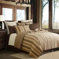 HiEnd Accents Hill Country KIng Quilt Set in Brown
