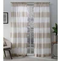 Darma Rod Pocket Window Curtain Panel Pair