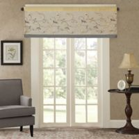 Madison Park Serene Embroidered Window Valance in Yellow