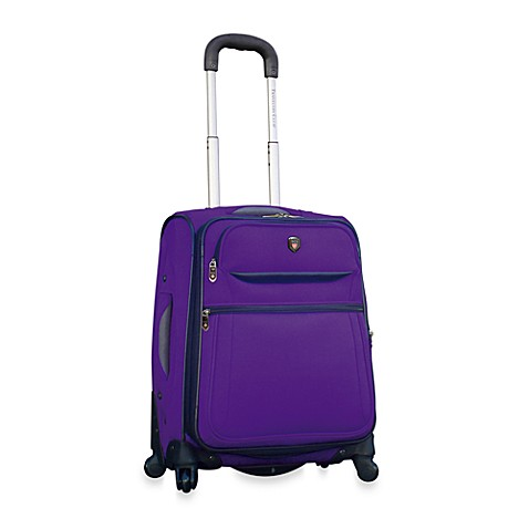 Travelers Club® 20-Inch Expandable 4-Wheel Spinner Carry-On in Purple