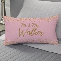 Sparkling Love Personalized Lumbar Throw Pillow