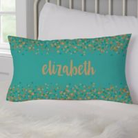 Sparkling Name Lumbar Throw Pillow