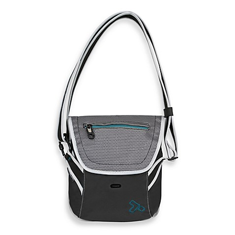 Travelon Anti-Theft React Black Crossbody Messenger Bag for E-reader