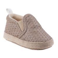 Joseph Allen Size 0-3M Basket Weave Shoes in Cream