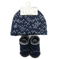 Baby Lounge 2-Piece Beanie and Socks Set in Navy