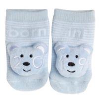 Planet Kids Size 0-6M Teddy Bear 2019 Infant Rattle Socks in Light Blue